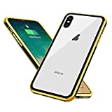imax case xsmax xmax Compatible with apple iPhone xs max cases cover luxury tempered glass 10max ip iph xmaxs 10 10s protective bumper x sx ixs ixsmax iphonexs xmas xphone skin 6.5inch-(yellow)