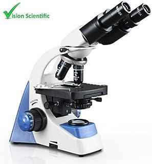 Vision Scientific VMU0005-B Binocular, 10x WF Eyepiece, 40x?1000x Magnification, LED Illumination, Coaxial Coarse & Fine Focus, Double Layer Mechanical Stage, 1.25 NA Abbe Condenser [並行輸入品]