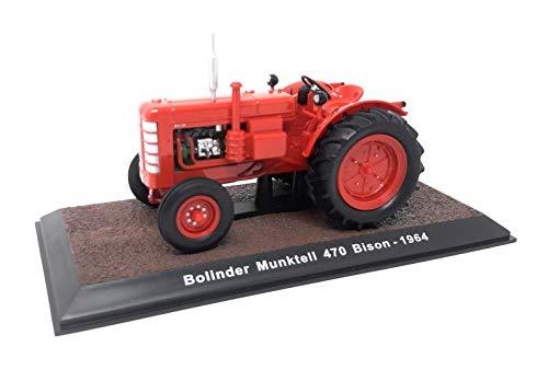 Atlas DieCast - Maqueta de coche en miniatura (escala 1:32), diseño de tractor histórico de 1964 Bolinder Munktell 470 Bison