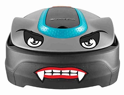Vampir Augen Aufkleber für Saugroboter, Mähroboter Wischroboter Thermomix Sticker Set Roboter (Vampir Mund und Augen)