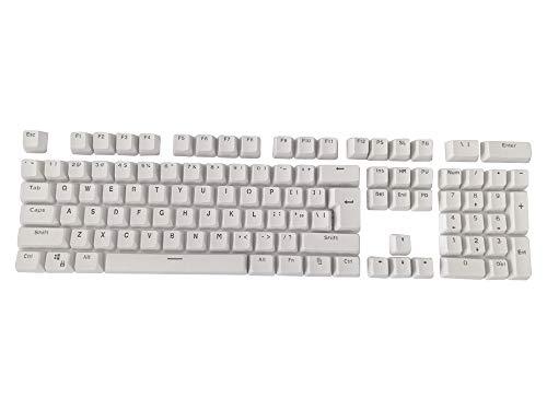 Feicuan Keycap PBT 104 Teclas Retroiluminado Keyset Perfil OEM Toque Mate Conjunto Completo de Teclas para Cherry MX Switches Teclado mecánico, Blanco (Keycap con Extractor de Teclado)