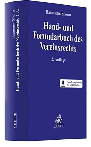 Hand- und Formularbuch des Vereinsrechts