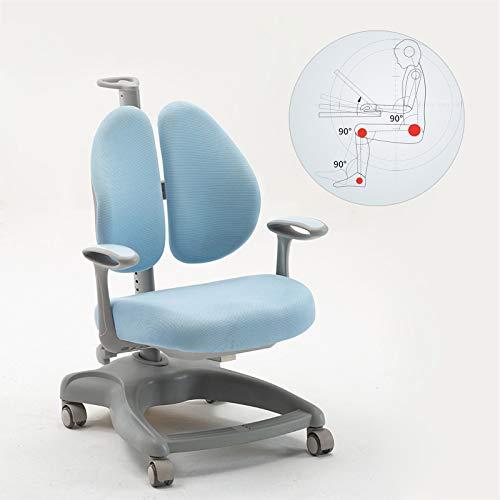 AWAHM Kinder Lernen Stuhl Für Korrekte Sitzhaltung-Home Primären Und Sekundären Schule Schüler Lernen Stuhl Mit Pulley-Heben Doppel Zurück Schriftlich Stuhl