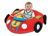 A big red racing car with a detachable electronic dashboard This fabric covered inflatable toy provides a soft, self-contained play area for imaginative play Young children will be thrilled to 'drive' their own car with exciting sounds to explore Put...
