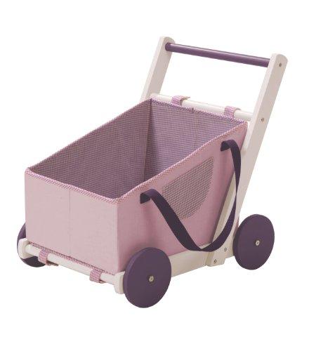 roba Puppenwagen 'Fienchen', zur Tragetasche für Puppenbabys umfunktionierbar, inkl. textile Ausstattung, flieder/weiß