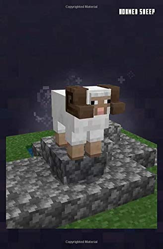 Minecraft Horned Sheep Notebook, Journal, Diary: Horned Sheep (MCE Black)