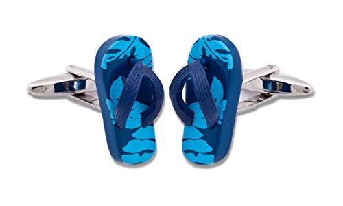 Sologemelos - Boutons De Manchette Tong Bleu - Blue Bluette - Hommes - Taille Unique