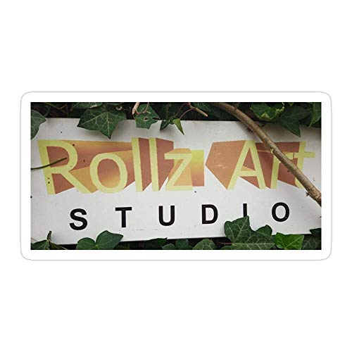 DKISEE Rollzart Studio Cowes Isla de Wight - Pegatinas troqueladas para laptop, ventana, coche, parachoques, casco, botella de agua de 4 pulgadas