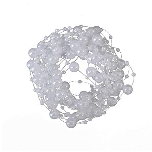 TOSSPER 1 5 M Artificial Pearls Beads Chain Plastic Bead Roll Garland Flowers Bridal Tiara Wedding Decoration Multiple Color