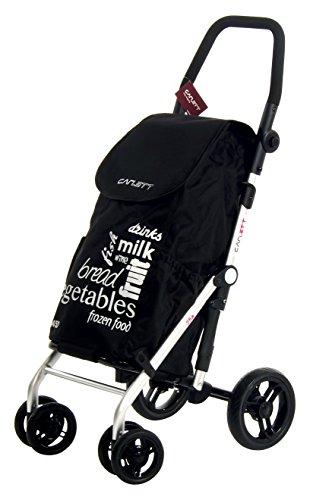 Carlett Lett 450 Carro de Compras, Aluminio, Negro, 69x42x29 cm