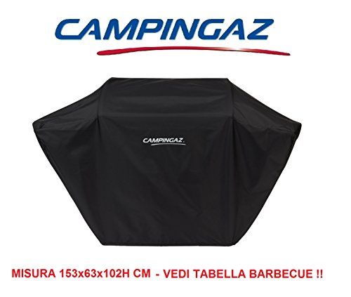 ALTIGASI Telo Cover Originale per Barbecue CAMPINGAZ IDONEO per Barbecue Series 3 o 4 Versioni L o LS - Misura 153x63x102H CM Colore Nero