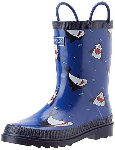 Regatta Minnow Jnr Welly Rain Boot, Shark/Nautic, 33 EU