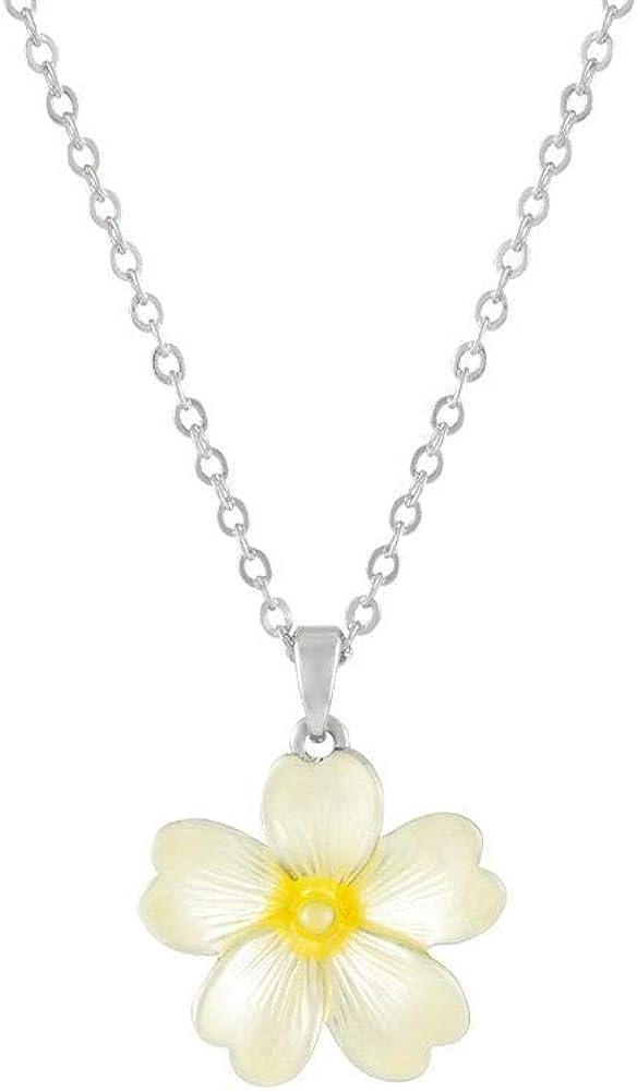 Eternal Collection Primrose Yellow Enamel Flower Pendant