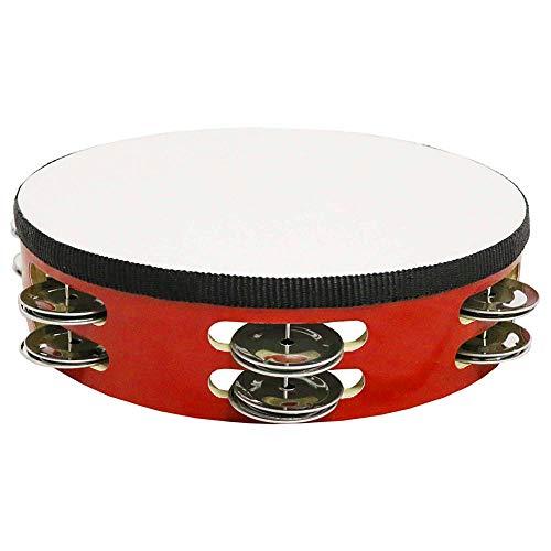 Momangel Pandereta De Piel De Oveja Personalizada Instrumento De PercusióN Pandereta Red 8Inch