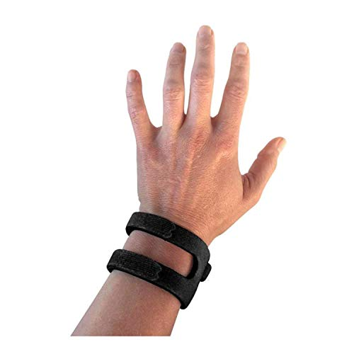 WristWidget (TM) - Patented, Adjustable Support, Wrist Brace For TFCC Tear- Triangular Fibrocartilage Injuries, Ulnar Sided Wrist Pain, Weight Bearing Strain - Left Or Right Hand - Regular BLACK