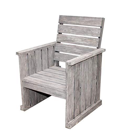 STRANDGUT07 lounge chair, garden chair, teak, grey wash
