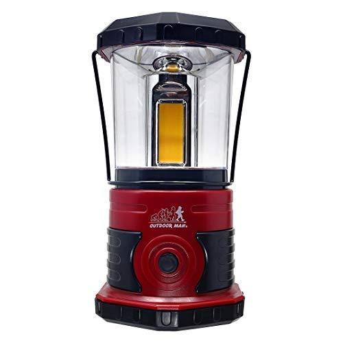 OUTDOOR MAN(アウトドアマン) 1000ルーメンランタン レッド KOLT-003R | BBQ アウトドア グランピング ランタン 4つのモード | まばゆい灯であたりを照らす