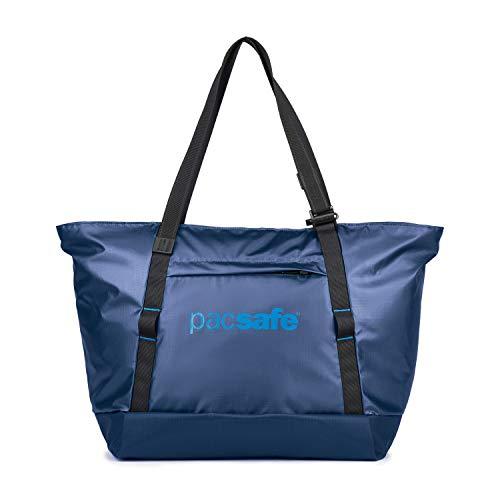 Pacsafe Dry Lite 30 L, Grand Sac de Plage étanche, Sac à bandoulière antivol, Sac de Transport étanche avec Protection antivol, 30 litres, Bleu