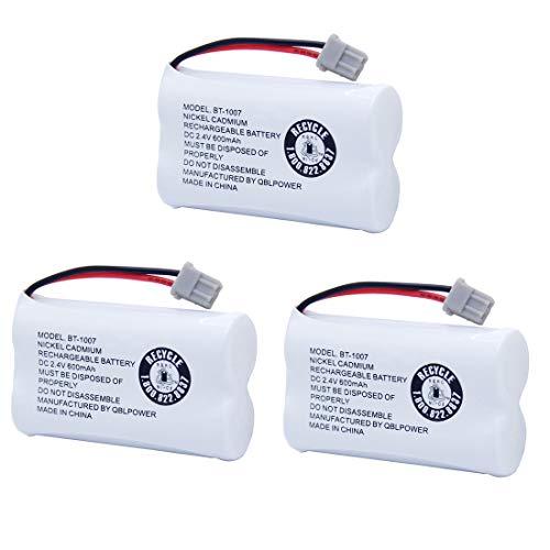 BT1007 BT-1007 BBTY0651101 Rechargeable Battery Compatible with Uniden BT904 BT-904 BT1015 BBTY0460001 BBTY0510001 BBTY0624001 BBTY0700001 Panasonic HHR-P506 HHR-P506A Cordless Phone(3 Pack)