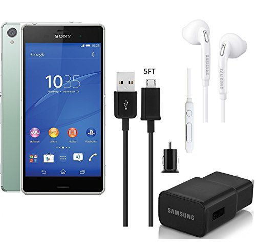 Sony Xperia Z3 D6603-16GB Pistachio GSM Unlocked World Smart Phone - Android 5.2inch 20MP Cam with Car/Wall/Headset (Certified Refurbished)