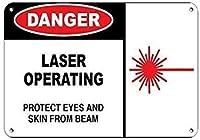 パブホームヴィンテージルック再現危険レーザー動作保護目の皮膚をビームから守る、オフィスヴィンテージ装飾ベッドルームシックヴィンテージユニークポスター