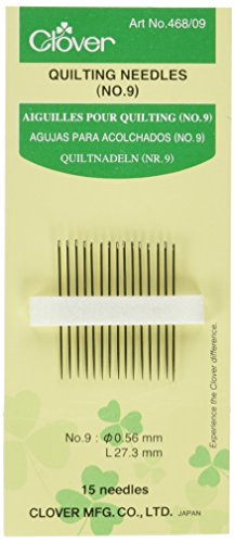 Clover 468/09 Quilting Needles, No. 9