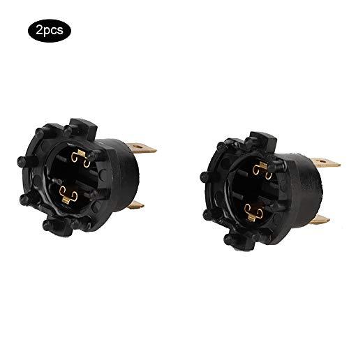 Presa per lampadina a terisass B28V510A3 Coppia di kit per supporto per portalampada per fari a LED per auto Adattatore per lampadina per testa di automobile per Mazda 3 5 323 ER6-F Aprilia SL1000
