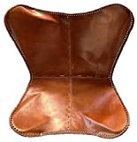 Prastara Leather Living Room Chair cover-Butterfly Chair Brown Leather Butterfly Chair cover (Only Cover )