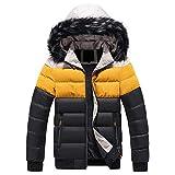 Mens Hooded Windproof Skiing Jacket Mountain Waterproof Jacket Soft Shell Removable Fur Zip Pocket Winter Warm Snow Coat