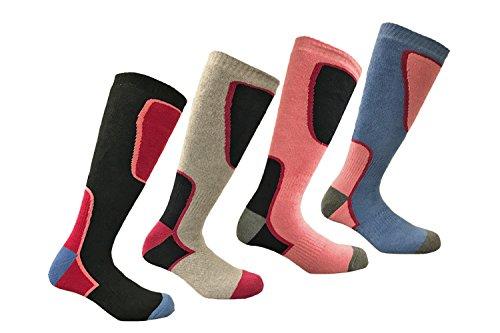 i-Smalls 4 Paar Hochleistungs Damen Ski Socken Lang Schlauch Thermal Socken