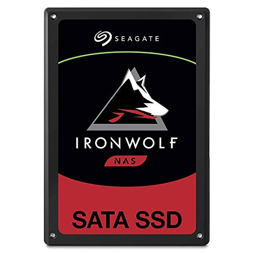 SeagateZA240NM10001 IronWolf 110 SSD 240 GB interne SATA SSD für NAS, 6, 35 cm (2, 5 Zoll) bis zu 560 Mb/s, schwarz, Bulk)