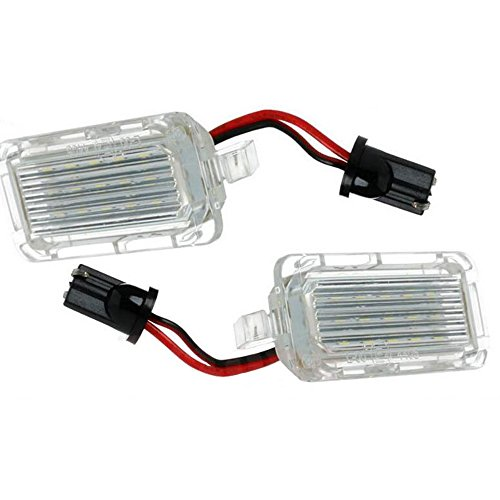 GOFORJUMP Lampe de plaque d'immatriculation blanche Canbus LED pour F/ord Focus 5D Fiesta Mondeo Lampe de plaque d'immatriculation LED T10
