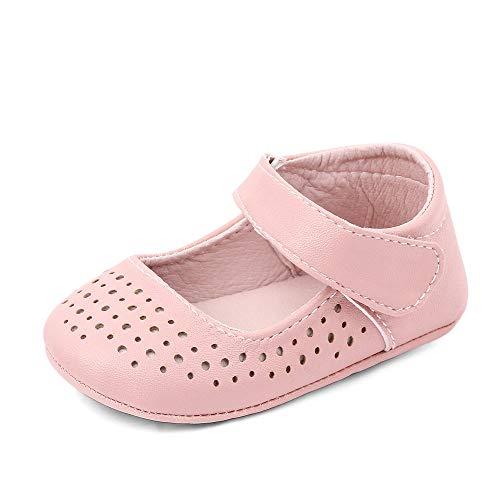 MK Matt Keely Baby Mädchen Rutschfeste Lauflernschuhe Weiche Babyschuhe Prinzessin Schuhe Baby Mädchen Krippe Schuhe Rose 6-12 Monate