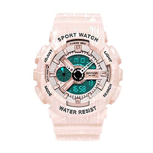 Lvmiao Relojes de Moda para Adolescentes, Relojes Deportivos Impermeables Luminosos, Relojes electrónicos de Pareja, Conjuntos de Relojes Reloj de Relojes de Relojes de Hombre,Woman 4