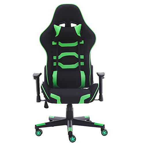 MUEBLES Home Gaming Stuhl Computer Racing Büro Schreibtisch Stuhl Video Konferenzstühle Ergonomisches Design Hohe Rückenlehne Armlehne mit verstellbarer Höhe und Lendenwirbelstütze