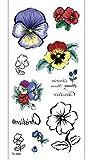 Etiqueta Engomada De Los Tatuajes Temporales Flores Rojas Azules Para Adultos Hombres Mujeres Niños Impermeable Fake Body Art Cover Up Set Anchor Graphic 19x9cm 10pcs