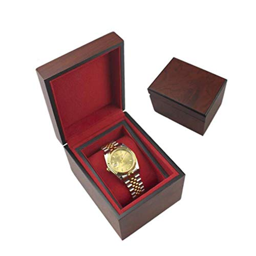 Gymqian Wooden Watch Box,Flip Lacquer Wooden Watch Storage Case and Removal Storage Pillows Gift Box Watch Noble