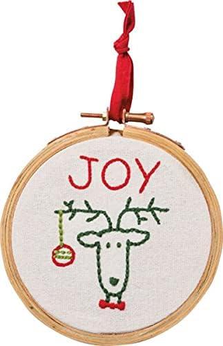 for ~Vintage Ranking El Paso Mall TOP20 Christmas Reindeer Loop Joy~Country Ornament Primit