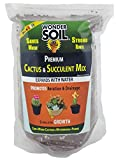 Premium Cactus and Succulent Soil Mix by Wonder Soil (3lb. Bag) | EXPANDS 4-5X in Size with Water! | Coco Coir Worm CASTINGS MYCORRIHIZAE Pumice | Saves Water- Stimulates Growth - Stronger Roots