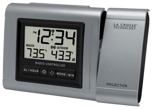 La Crosse Technology WT-5210U-IT Projection Alarm Clock with Indoor/Outdoor Temperature