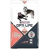 Global Pienso para Perros OPTI Life Skin Care Medium y Maxi con salmón y arroz | Pienso para Perros de Raza Mediana y Grande Versele Laga | Comida para Perros 12,5 kgs