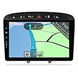 YUNTX PX6 Android 10 Autoradio Fit for Peugeot 308 (2007-2013) - 4G+64G - GPS 2 DIN - Gratis Cámara - Soporte Dab / Control del Volante / USB / HDMI / WiFi / Bluetooth / MirrorLink / Carplay
