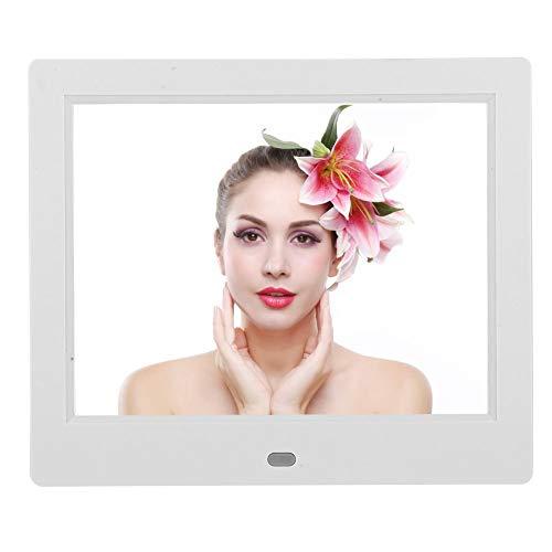 Digitale Fotolijst - XCLT-808 8 Inch Desktop Electronic Klok Kalender Alarm - Digitale Fotolijst Ouderen Elektronisch Album - Van Toepassing op Alle Groepen Mensen(EU)