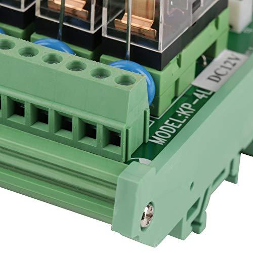 Relé, carcasa de PCB Relé LED de 4 canales para vehículos automotores Coches Equipo ligero para barcos marinos