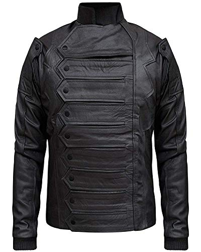 Bucky Barnes Winter Soldier Jacket with Detachable Sleeves (S) Black -  Jjacket