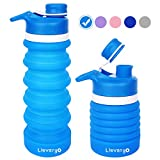 Llevargo Collapsible Water Bottle, BPA-Free, FDA Approved, Food-Grade Silicone Leak Proof...