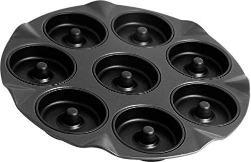 Zenker 8er Apfelküchli-Backblech, Special Creative, Apfelküchlein Backform, mit Antihaftbeschichtung für 8 kleine Kuchen mit Loch, Menge: 1 Stück, Farbe: schwarz