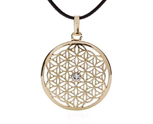 silvity Damen Blume des Lebens Halskette mit Crystals from Swarovski® Kristalle 959701-20 Farbe:Gold
