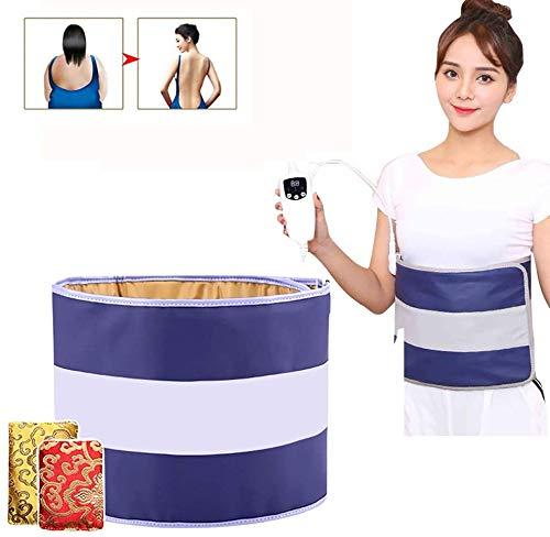 FANQIE Abnehmen Massagegerät Saunagürtel 45-65 ℃ Ferninfrarot-Heizung mit 4 Motoren Automatisches Timing für Gewichtsverlust Detox