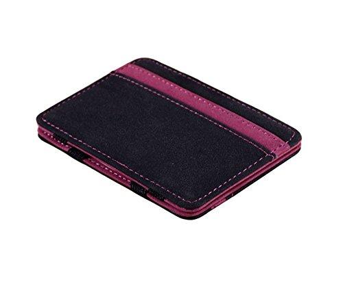 Portafoglio Magico in simili cuoio - magic wallet Credit Card Holder - porta moneta (Blu)